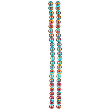 Turquoise Confetti Glass Bead Strands