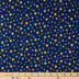America The Beautiful Stars On Navy Cotton Calico Fabric