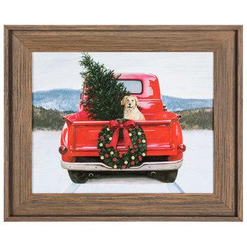 Dog In Truck Christmas Wood Wall Decor Hobby Lobby 5383989