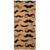 Kraft & Black Mustache Tissue Paper