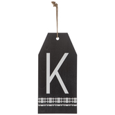Plaid Tag Letter Wood Wall Decor - K