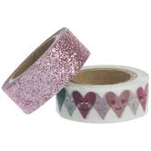 Hearts & Glitter Washi Tape