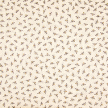 Yellow Bee Tonal Cotton Calico Fabric