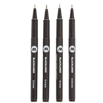 Blackliner Permanent Pens - 4 Piece Set