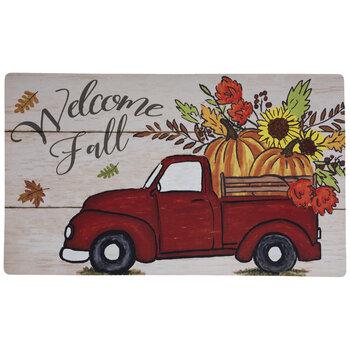 Welcome Fall Truck Doormat