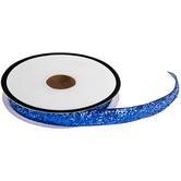 """Royal Blue Metallic Velvet Trim - 3/8"""""""