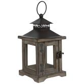 Square Wood Lantern