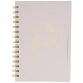 Pink & Gold Foil Letter Journal - P