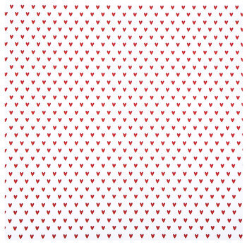 "Red Hearts Foil Scrapbook Paper - 12"" x 12"""