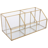 Metallic Gold Glass Jewelry Box