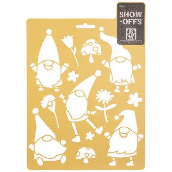 Gnome Party Stencil