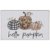 Hello Pumpkin Glitter Wood Decor
