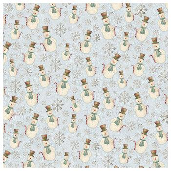 "Country Snowman Scrapbook Paper - 12"" x 12"""