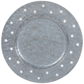 Stars Galvanized Metal Charger