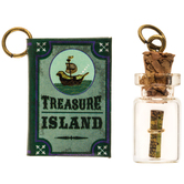 Treasure Island Book & Message In A Bottle Charms