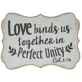 Colossians 3:14 Wood Decor