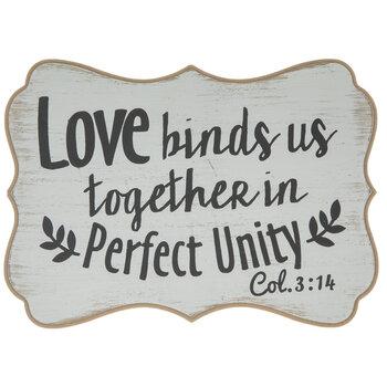 Colossians 3:14 Wood Decor