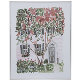 Red & Green Tree Wood Wall Decor