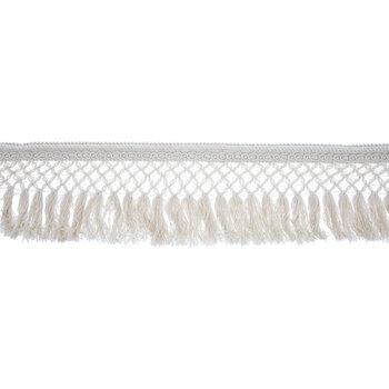 Beige Cotton Lattice Fringe Trim