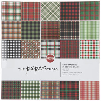 """Christmas Plaid Cardstock Paper Pack - 12"""" x 12"""""""