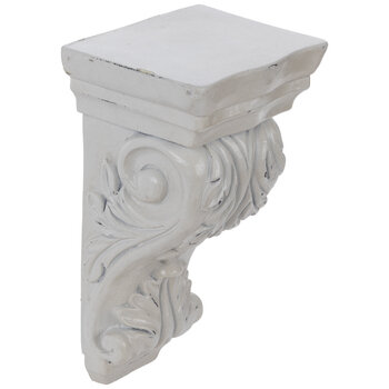 Antique White Ornate Carved Corbel - Medium