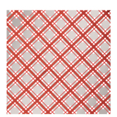 Silver, Red & White Plaid Foil Gift Wrap