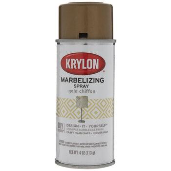 Gold Chiffon Krylon Marbelizing Spray