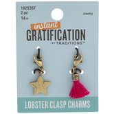 Star & Tassel Lobster Clasp Charms