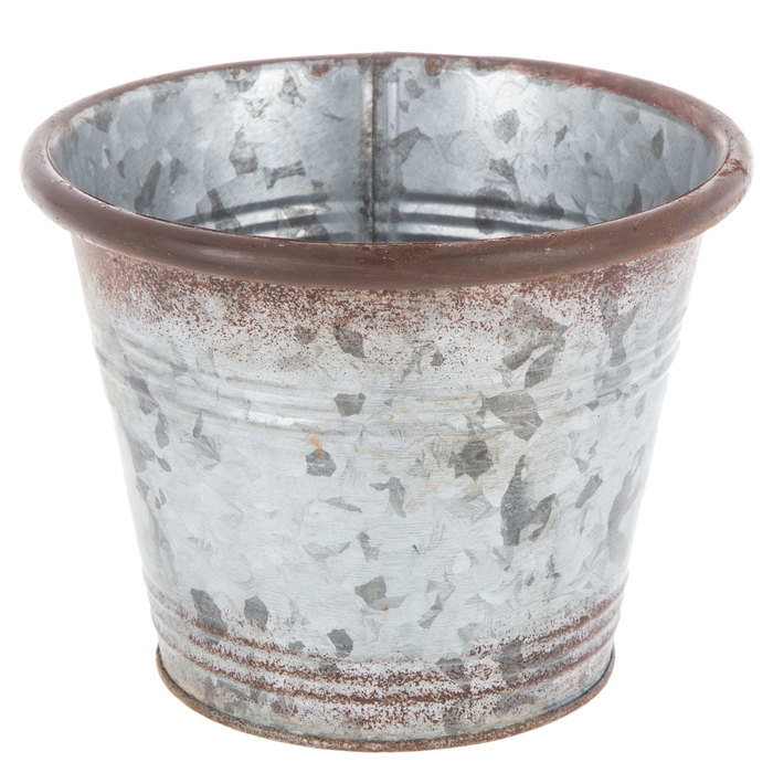 Distressed Galvanized Metal Flower Pot Small Hobby Lobby 80855015