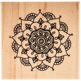 Henna Mandala Rubber Stamp