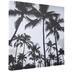 White & Black Palm Trees Canvas Wall Decor