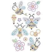 Bees & Flowers Rhinestone Stickers
