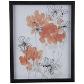 Watercolor Peonies Framed Wall Decor