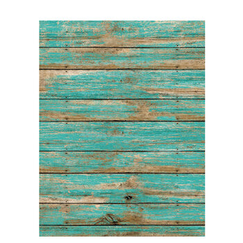 "Turquoise Petite Wood Fence Scrapbook Paper - 8 1/2"" x 11"""