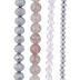 Rose Mixed Glass Bead Strands