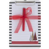 Leopard Print & Striped Mini Clipboard & Pad