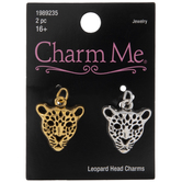 Leopard Head Charms