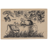 House Mouse Tea Time Rubber Stamp