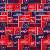 NHL Washington Capitals Block Cotton Fabric
