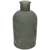 Green Frosted Glass Vase