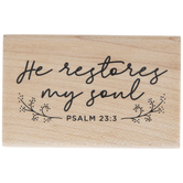 Psalm 23:3 Rubber Stamp
