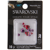Swarovski Heart Hot Fix Crystals