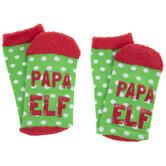 Papa Elf Crew Socks