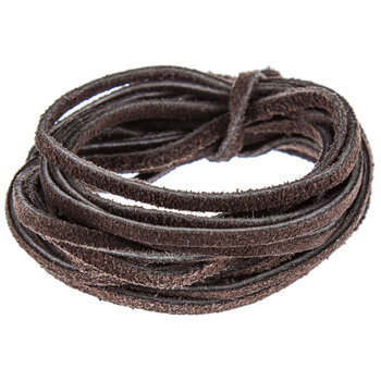Chocolate Suede Leather Lace - 3mm