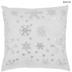 White & Silver Snowflakes Pillow