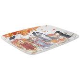 Dogs Autumn Rectangle Platter