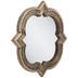 Natural Wood Quatrefoil Wall Mirror