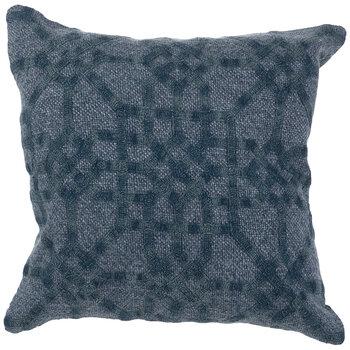 Blue Geometric Knit Pillow Cover