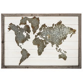 World Map Wood Wall Decor