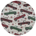 Red & Green Plaid Trucks Plate